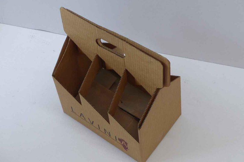 Cestas de cartón para cerveza